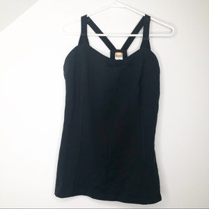 LUCY Black Athletic Tank Top